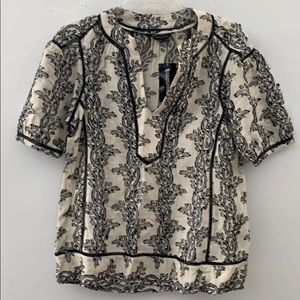 BCBG Maxazria woven top cotton